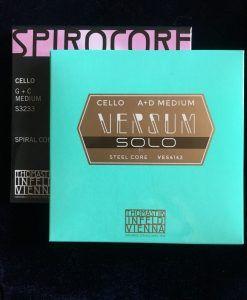Juego de cuerdas de cello Versum Solo-Spirocore